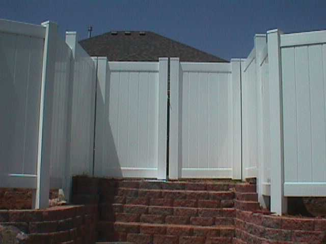 Vinyl Privacy Fence With Double Gate Www