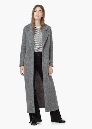 Manteau long en laine -  Femme | MANGO France