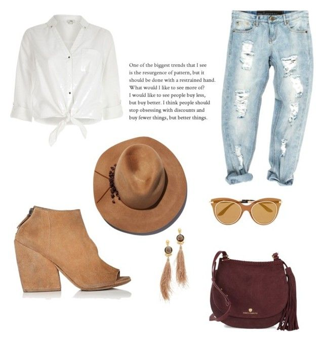 """Untitled #44"" by mariastoica on Polyvore featuring Marsèll, Gas Bijoux, OneTeaspoon, River Island, Eugenia Kim, Vince Camuto and Dolce&Gabbana"