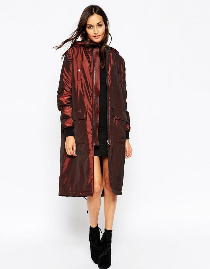 Image 1 of ASOS Bomber Parka In Longline