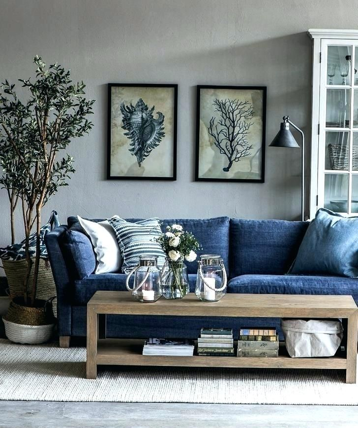 Living Room Ideas Navy Couch Couch Living Room Design Ideas Pictures Remodel And Decor Blue Sofa Living Eclectic Living Room Blue Sofas Living Room Cindy Crawford Living Room Set Navy