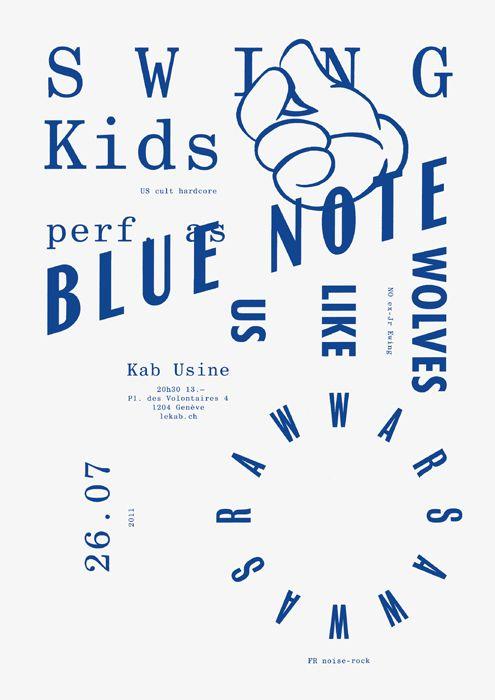 Todeschini Mamie - Typographic music poster - 2011