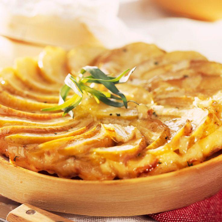 Découvrez la recette Tatin au camembert sur cuisineactuelle.fr.