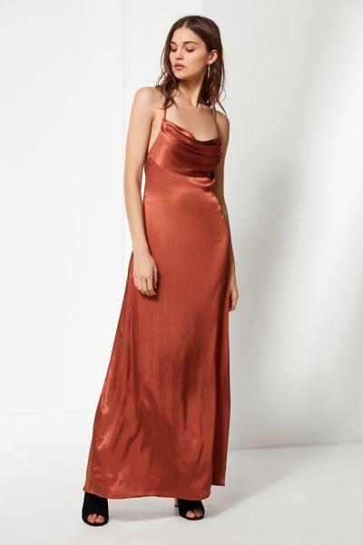 Uo Cowl Neck Silk Maxi Dress S P E C I A L O C C A S I O N