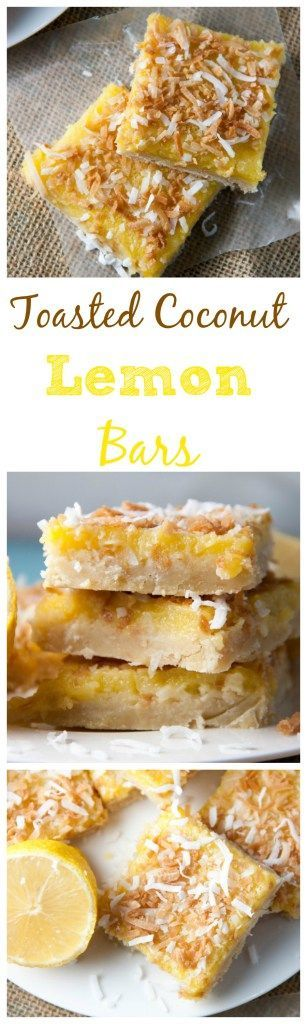 Take your lemon bar to the next level by adding in toasted coconut! There is coconut in the buttery shortbread crust and sprinkled on top of this tangy lemon bar filling! Pin now for later! From Boston Girl Bakes
