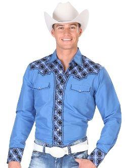 camisa charra azul - Buscar con Google