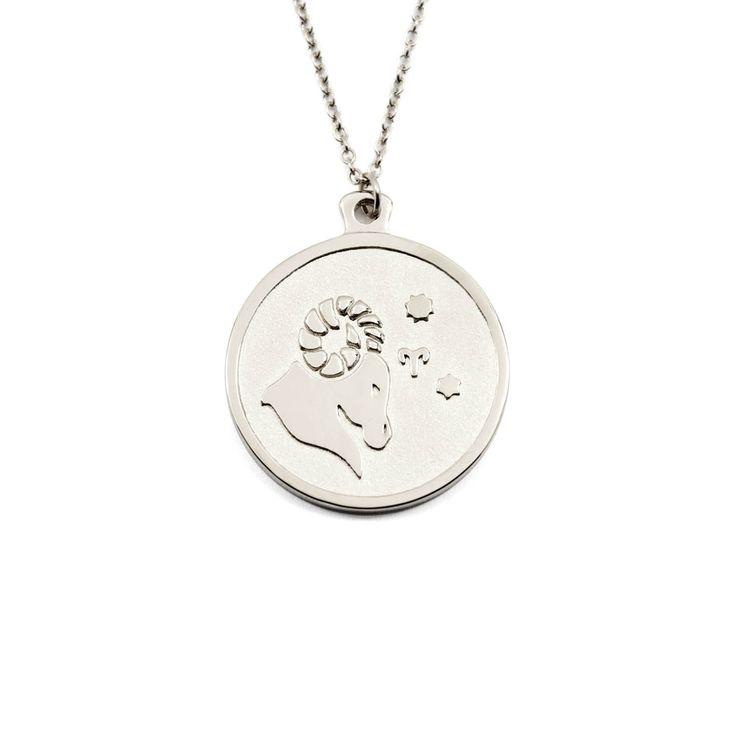 Collier en argent (Sylver) - signe du zodiaque - aries/bélier - 79$ - 23,5cm