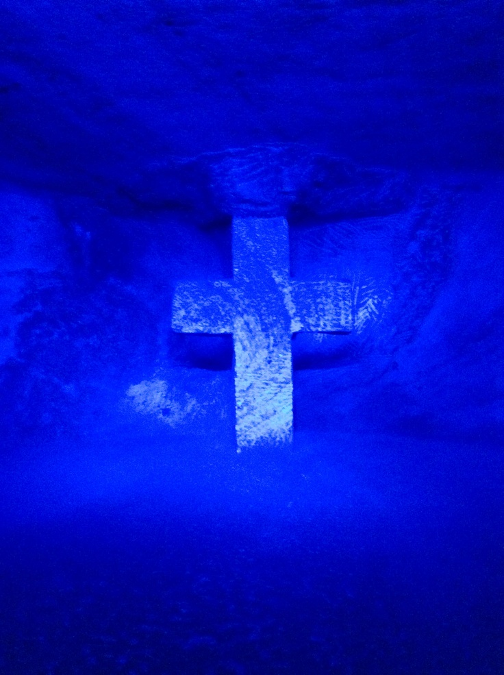 Christian Cross of Jesus located at the Catedral de Sal in Zipaquirá, Colombia.