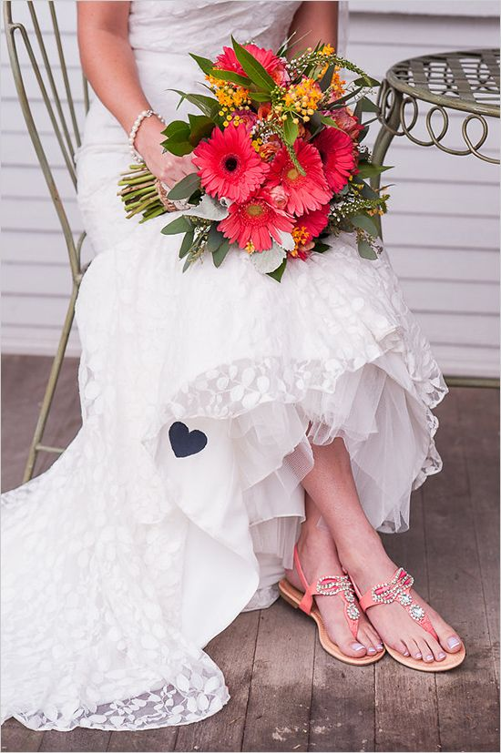 Peach Wedding Shoes Weddingchicks