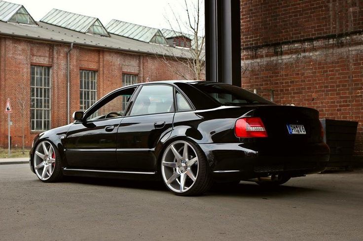 #Audi #A4 #Lowered #Stance #Black #Modified