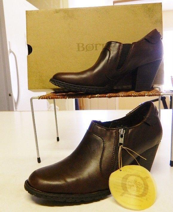 Born Carteret Leather Shoe Boots Brown 9/40.5 9.5/41 11/43 NIB