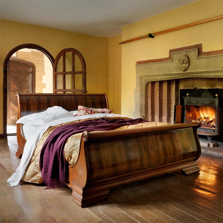 Elegant Chateau hand carved luxury wooden sleigh bed Ive always wanted a sleigh bed  Feels