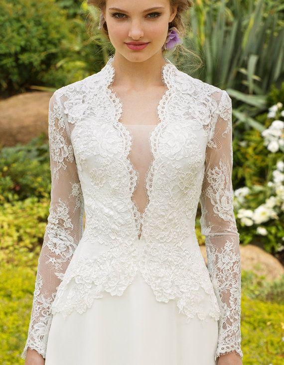 Wedding dress Designer Luxurious Wedding Gown Made from a French lace and chiffon Made to order The price will increase in March