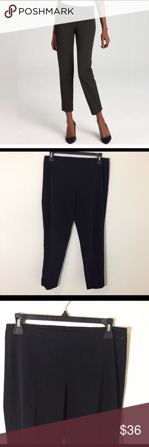 """Theory Belisa Ankle Stretch Dress Pants size 2 Striking pintuck pleats define the sleek waistline of these Balisa pants with their notched, cropped hem.  Super stretchy and comfortable.  You won't mind wearing these all day.  Size 2 Excellent used condition  Inseam 24"""" Theory Pants Ankle & Cropped"""