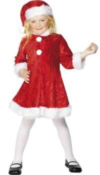 Noel Kız Bebek Kostümü, Elyaf 0-3 Parti Kostümleri - Bebek Kostümleri Yılbaşı Kostümleri: Kostümlü Parti, Kıyafet Balosu, Okul Gösterileri,Yılbaşı Partileri için ideal kostüm.  Elyaf şapka ve elbiseden oluşan Kız Çocuk Noel Baba Kostümü.