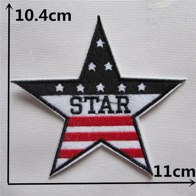 ESTRELLA de la bandera Americana ropa parche adhesivo de fusión en Caliente 1 unids applique bordado de la flor DIY accesorios Ultra-bajos precios C327