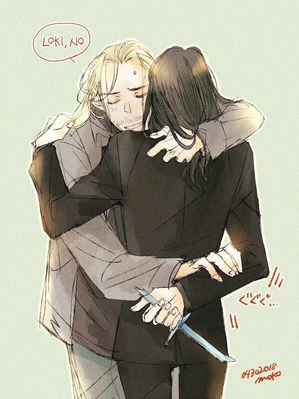 Thor & Loki || Cr: もこ | Marvel | Loki thor, Thor x loki