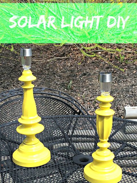 Turn Solar Lights Into Garden Lamps. Inexpensive and easy way to brighten up the patio or deck!