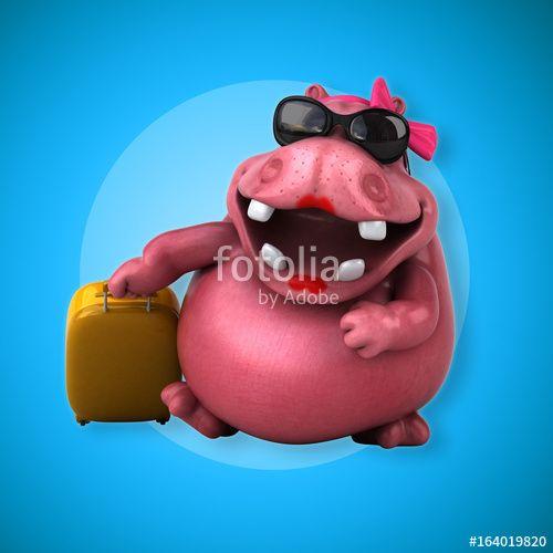 """Téléchargez la photo libre de droits """"Pink Hippo - 3D Illustration"""" créée par julien tromeur au meilleur prix sur Fotolia.com. Parcourez notre banque d'images en ligne et trouvez l'image parfaite pour vos projets marketing !"""