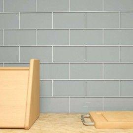 "Glass Subway Tile (True Gray) - 3"" x 6"" Piece"