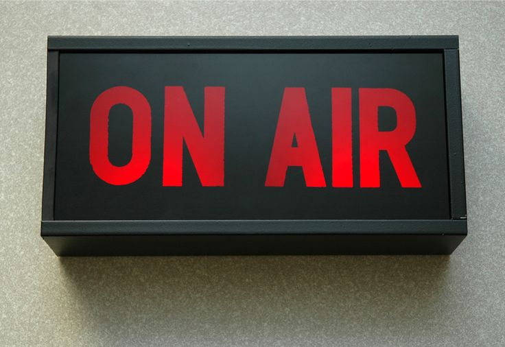 On Air Recording Sign