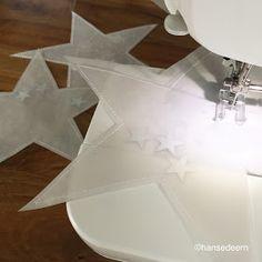 ☆ sterne ☆     aus transparentpapier.   genäht.   gefüllt mit vielen, vielen   klitzekleinen sternchen.   verschen           e...