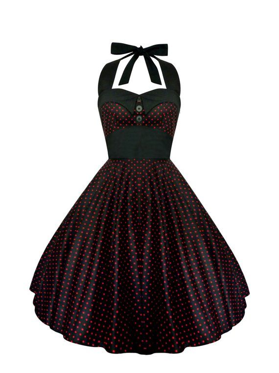 1cc8f0bf27d33 Rockabilly Dress Pin Up Dress Black Polka Dot Dress Plus Size Dress Summer  Dress 50s Retro Dress Got