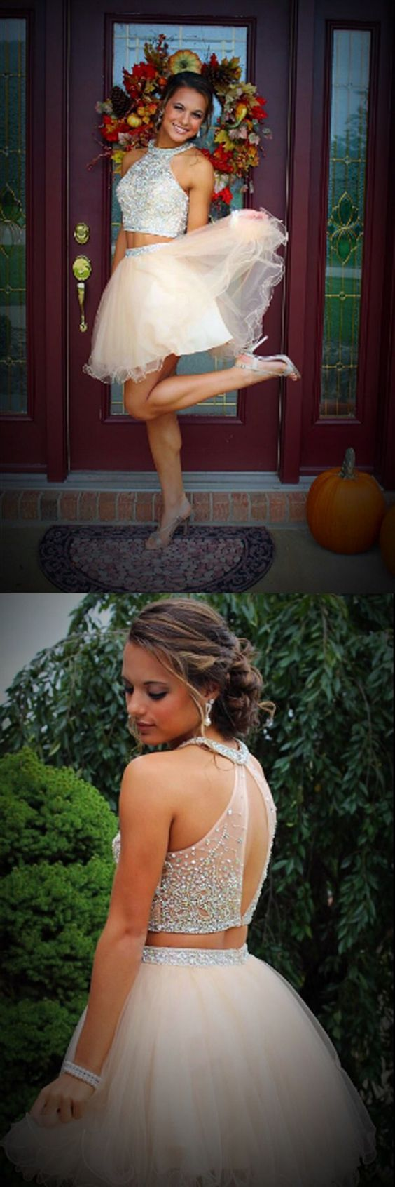 2016 homecoming dresses,homecoming dresses,two-piece homecoming dresses,blush homecoming dresses,modest homecoming dresses,sparkle homecoming dresses,cheap two-piece homecoming dresses for teens