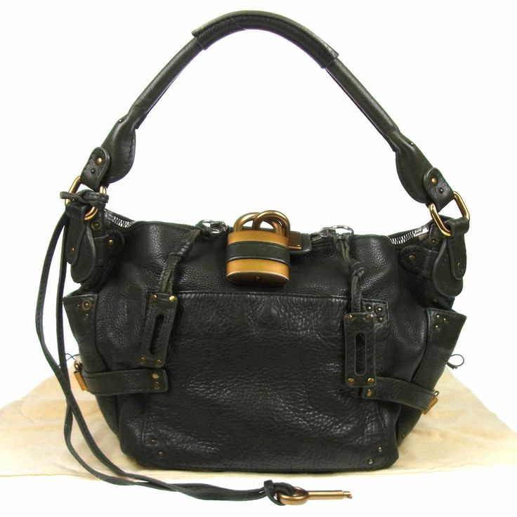 Authentic Chloe Paddington Shoulder Bag Leather Dark Green Italy ...