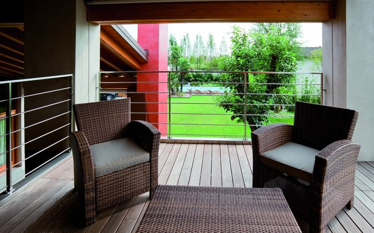 Thermory Ash decking 20x132mm (profile D4 sg). Italy