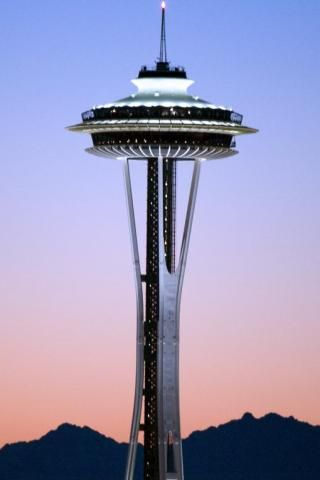 Space Needle - spinning dinning at the top