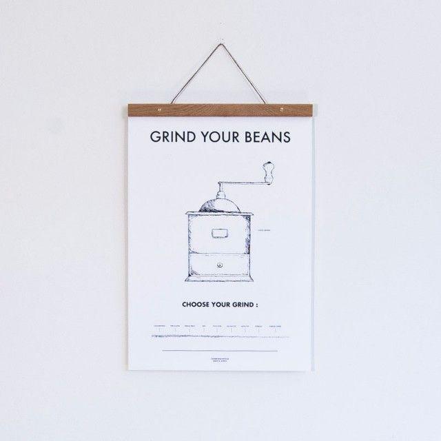 Kaffekvarn Poster (30x40 cm) - mat & dryck - TAVLOR & POSTERS