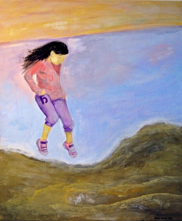 Unlimited joy of life / Illimité joie de la vie - Painting,  60x50x2 cm ©2015 przez Maga Smolik -  Malarstwo