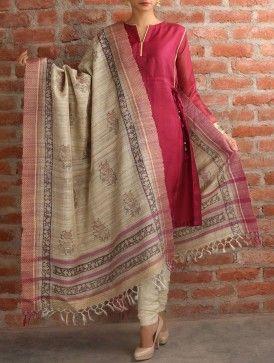 Begum Tussar Silk Dupatta