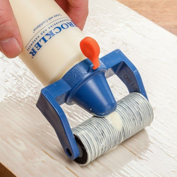 Glue bottle with Roller Applicator -  Works great Good coverage when glueing large pieces I use it all the time