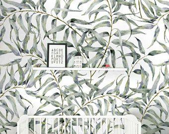 Eucalyptus Blad Verwisselbare Behang Jungle Tijdelijke Behang, Huurders  Vriendelijk Behang, Peel En Stick Muur Great Ideas