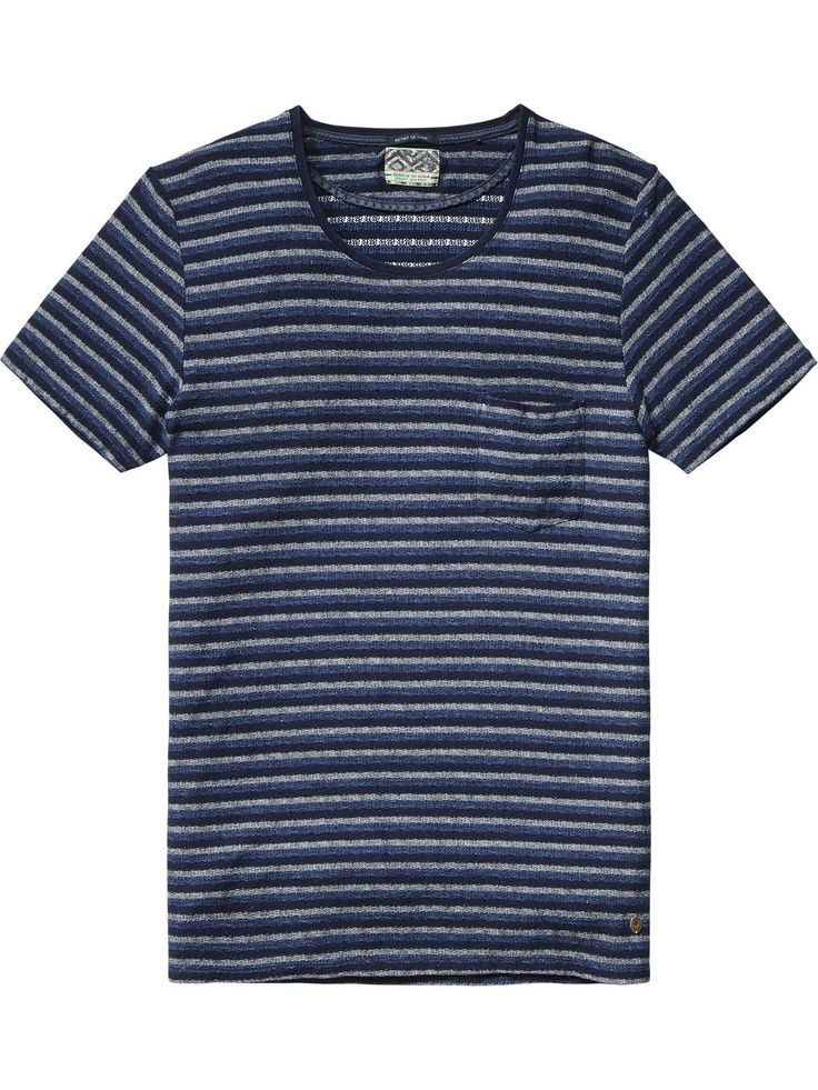 T-shirt met borstzak | T-shirt s/s | Herenkleding bij Scotch