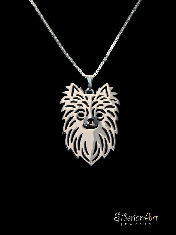 Long Haired Chihuahua - sterling silver                                                                                                                                                                                 More