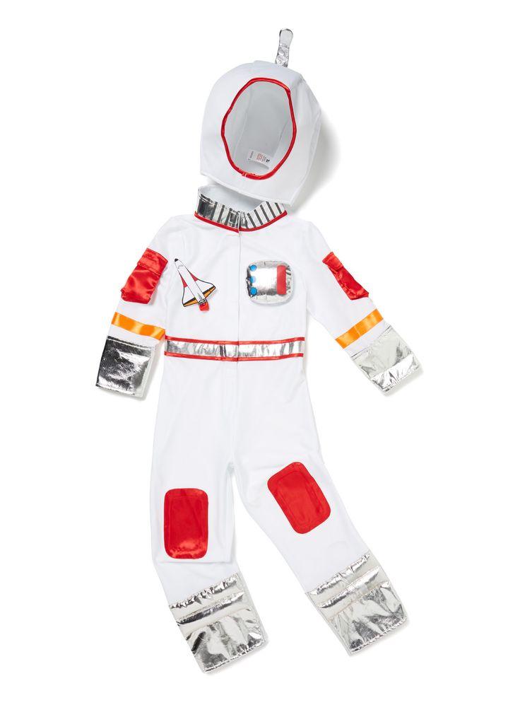 Kids White Astronaut Costume (3-12 years)