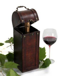 Wine Gift Wood Treasure Chest