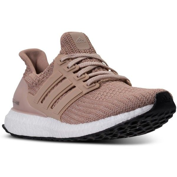 sale retailer 8759d d403a adidas Women s Ultra Boost Running Sneakers from Finish Line (£130) ❤ liked  on Polyvore featuring shoes, ash pearl, stretchy shoes, pearl shoes, adidas,  ...