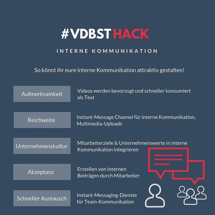 Ihr braucht neuen Input, um eure interne Kommunikation attraktiver zu gestalten?  Dann schaut in unseren Hack! #vdbstHack # #interneKommunikation #Arbeitgeber #corporatecommunication #kommunizieren #mitarbeiter #teamkommunikation #unternehmenskommunikation #investinyourteam #inspiration#hack #b2b #b2c #darmstadt #deutschland #videoboost #instagram
