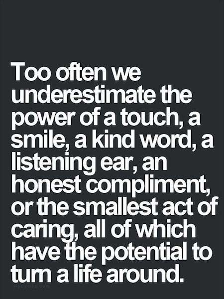 I love this! A little thought, touch or even a smile can change someone's whole day