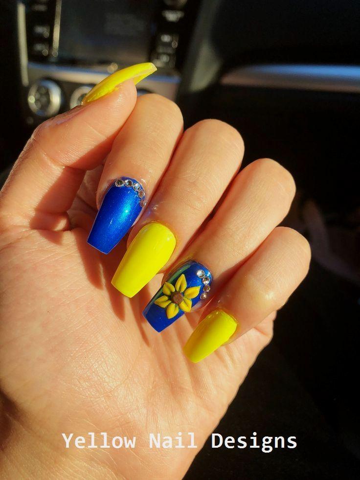 23 Great Yellow Nail Art Designs 2019 nailideas