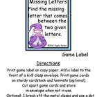 6x9 Envelope CenterFull-Color PagesSkill: Missing LettersPages: 7Each Envelope Center includes a Game Label with clear easy to follow game ins...