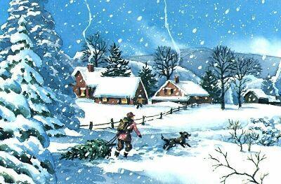 Thomas Kinkade Animated Christmas Tree