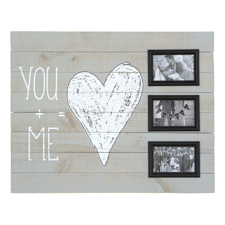 You and Me Wood Plank Collage Frame | Kirklands