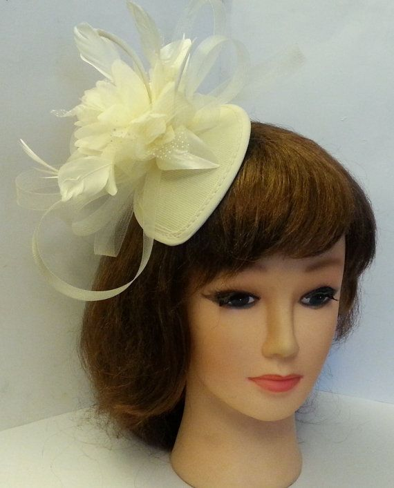 Vintage 1940s 50s Fascinator Hat Whiteivory By Misselegancegarter 23