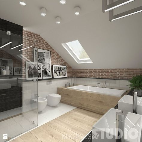 Badezimmer im skandinavischen Stil Badezimmer – Foto von MIKOŁAJSKAstudio   – Marc Claude