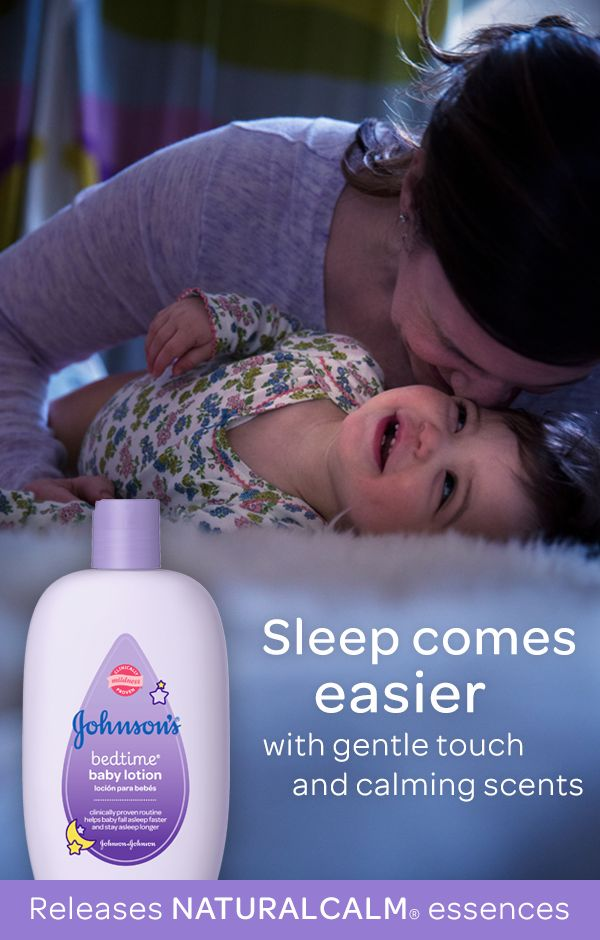 Don't underestimate the power of scent. Babies bathed with a fragranced bath product spent nearly 25% less time crying before sleep than those who weren't. See the results for yourself when you use JOHNSON'S® BEDTIME® baby wash and lotion with comforting NATURALCALM® essences.